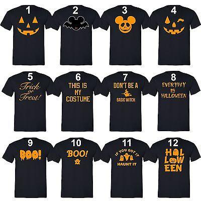 Women Men HALLOWEEN Costume T-shirt Jack O lantern Shirt Don't Be a Basic Witch - Women's Halloween T Shirts