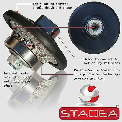 Diamond Profile Wheel 38 10mm Demi B10 Bit For Grinder Concrete Granite Marble