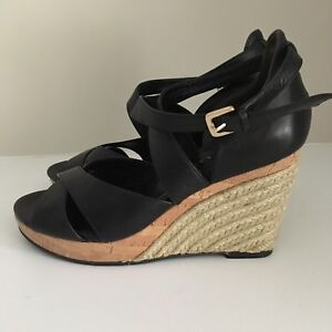 Black Leather Cole Haan Sandals - Size 5.5