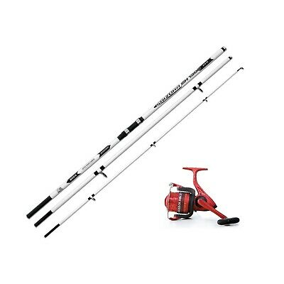 Shizuka 15ft Beachcaster Beach Sea Fishing Rod & Ocean 70 Reel Fixed spool