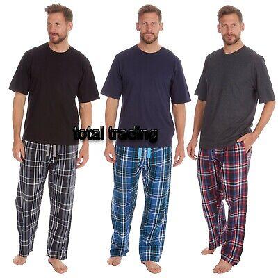 Mens Short Sleeve Pyjama Set Pj T-Shirt Pyjamas Nightwear Sleepwear Loungewear