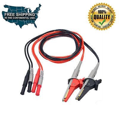 Kelvin Clip Wires For Lcr Mete Micro Ohm Meter Uni-t Ut620a Ut620b