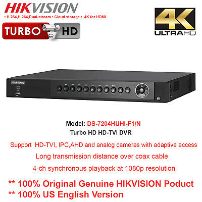 Original Hikvision Ds-7204huhi-f1n 4ch Turbohd Tribrid Dvrsupport 2ch-4mp Ip
