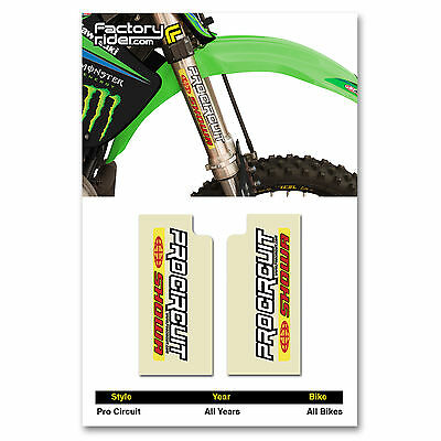 PRO Circuit SHOWA Fork STICKERS MX Dirt Bike GRAPHICS  fit all Motocross Bikes   - Mx Bike Graphics