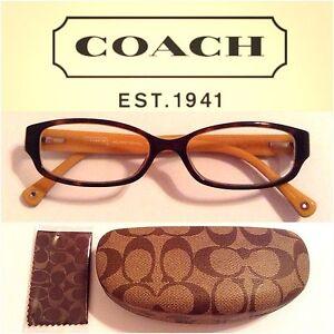 coach tortoise brown eyeglasses frames emily hc6001