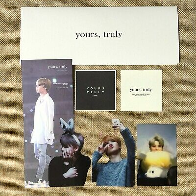 BTS JIMIN [ Yours, Truly Ticket + Photocard + Sticker ] Exhibition / New, R / +G