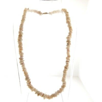 Vintage Genuine Puka Shell Necklace Choker 7mm 18.25""