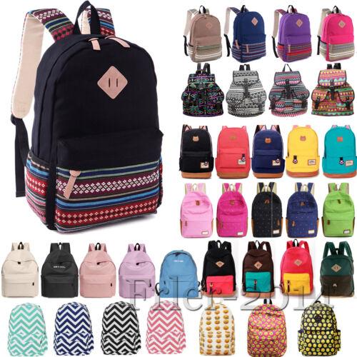 Damen Mädchen Reisetasche Rucksack Schulter Schule Backpack Sport Freizeittasche