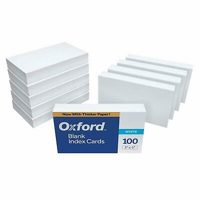 Oxford Blank Index Cards 3 X 5 White 10 Pack Of 100 1000 Card 30 Study Notes