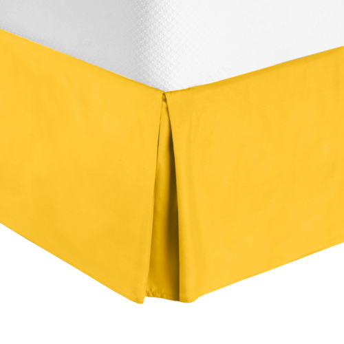 """Solid Luxury Pleated Tailored Bed Skirt - 14"""" Drop Dust Ru"""