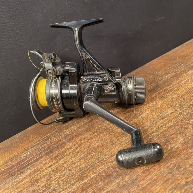 Vtg Fishing Reel Shimano CX 2500SQ Quickfire II Trigger High Speed PRIORITY MAIL