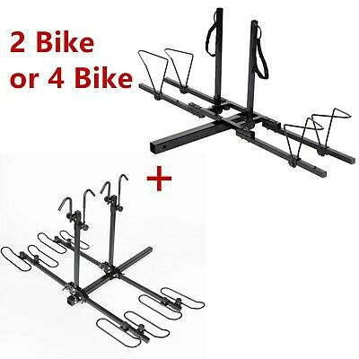 2 Bike 4 Bike Bicycle Carrier Hitch Receiver Heavy Duty 2'' Mount Rack Truck SUV