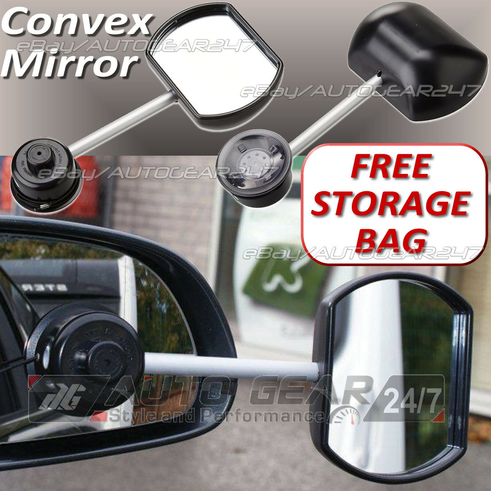 Streetwize LWACC36 Stick-On Towing Mirror Convex Glass