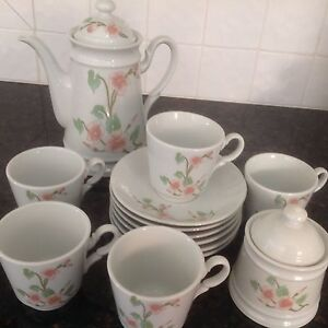 Coffee set Cherry Blossom design Beaconsfield Fremantle Area Preview