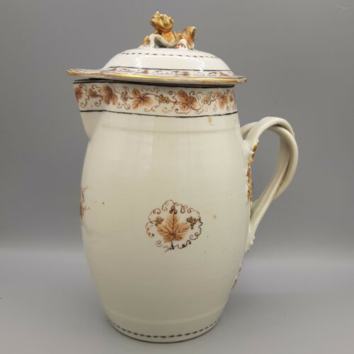 18th C. Chinese Export Porcelain Covered Cider Jug