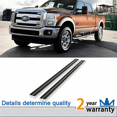 """Running Boards 4"""" Fit 07-14 Silverado/Sierra Extended Cab 14-15 1500 Double Cab"""