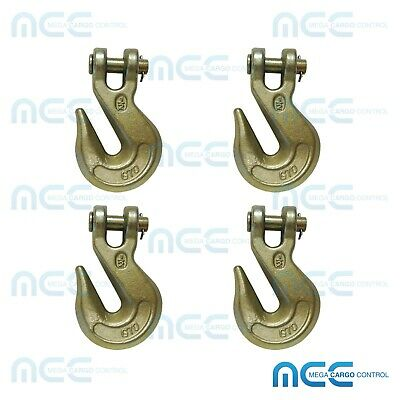 4 Pack G70 12 Clevis Grab Hooks Tow Chain Hook Flatbed Truck Trailer Tie Down