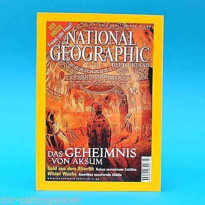 National Geographic Juli 2001 Gold aus Kuba Aksum Der Grizzly Zersiedelung Polo