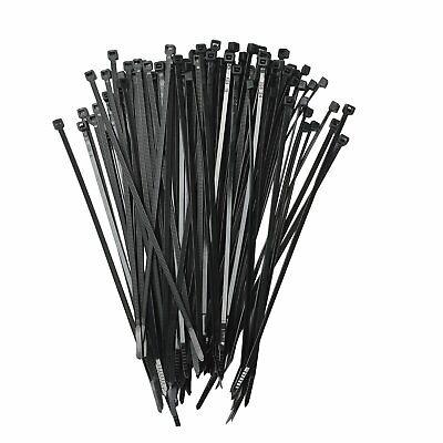 4 To 18 Usa Industrial Black Wire Cable Zip Uv Nylon Tie Wraps 100 - 1000pcs