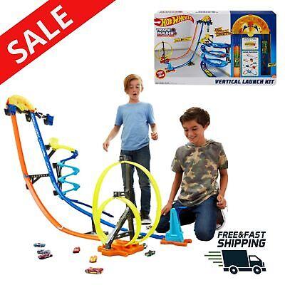 Toy Race Car Track Set Builder Vertical Launch Kit 3 Configurations Child Toys