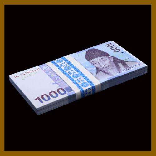 South Korea 1000 (1,000) Won x 100 Pcs Bundle, 2007 P-54a Unc