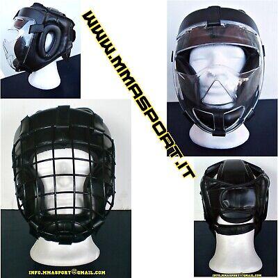 casco con griglia schermo krav maga jkd free fight mma kali vale tudo thai boxe