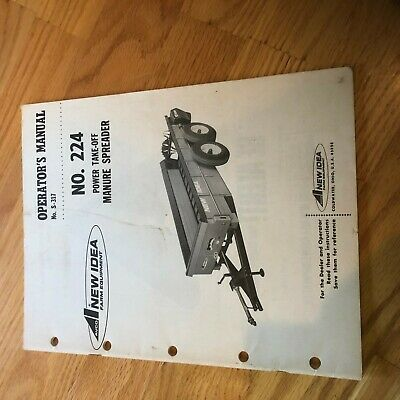 New Idea Manure Spreader 224 Operator Maintenance Manual