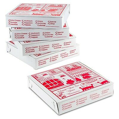 Pizza Box 10 X 10 X 1.75 Lock Corner Clay Coated By Mt Products - 20 Pieces