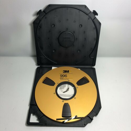 """Used 1/4"""" 3M Gold metal reel, 10.5"""" diameter with Carrying Case"""