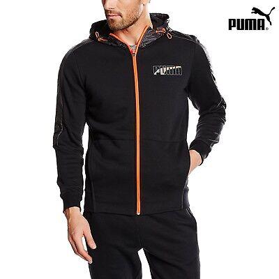 Puma Hoodie Sweatshirt | Ferrari Series | LUX Full Zipper Pullover Black Hoodie