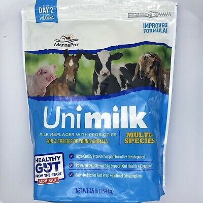 10.5 Lbs Manna Pro Multi-species Milk Replacer Mix Improved Formula Unimilk