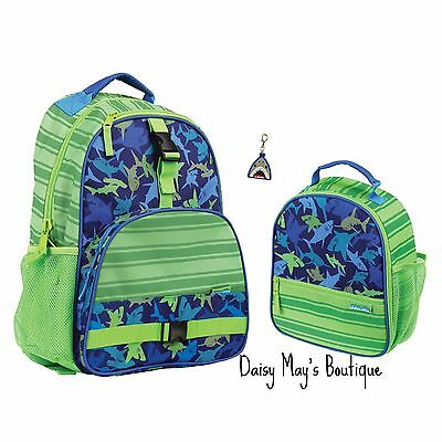 Stephen Joseph Boys Shark Backpack and Lunch Box with Zipper Pull - School Bags  (Boys Backpack And Lunchbox)