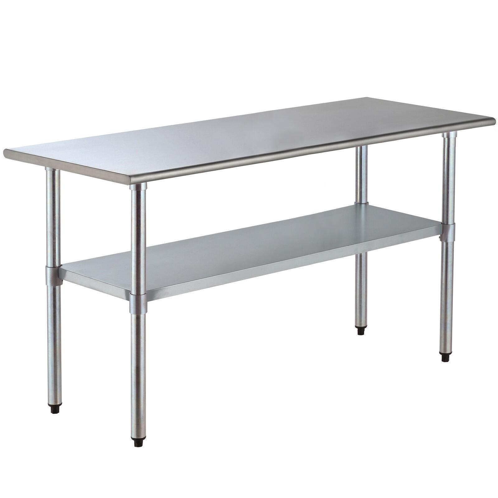 30 x 72 stainless steel commercial kitchen restaurant work prep table