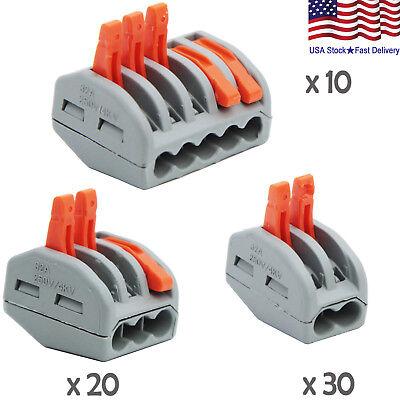 60pcs 235 Lever-nuts Assortment Pack Terminal Block Compact Wire Connectors