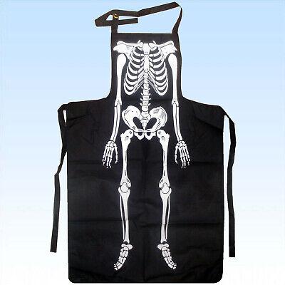 Horrorschürze Skelett Funschürze Halloween Fasching Partyschürze Grillschürze