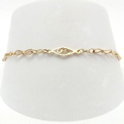 Vintage 14k Gold Infinity Figure 8 Link Bracelet 7 inch