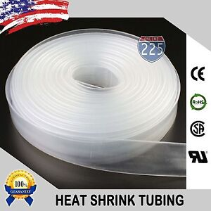 20 Feet CLEAR 3 4 19mm Polyolefin 21 Heat Shrink Tubing Tube Cable US