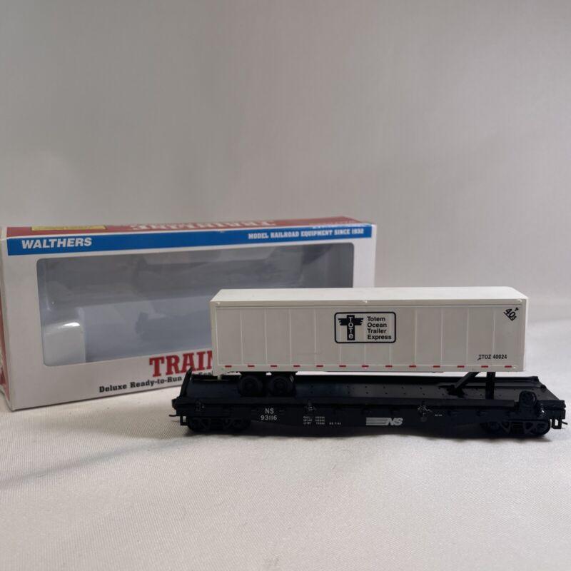 Walthers HO Trainline Totem Ocean Trailer Express Semi Trailer Flat Car