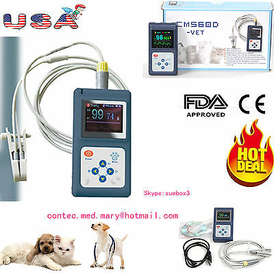 Vet Animal Pulse Oximeter Veterinary Spo2 Pr Monitor With Tongue Probeusbusa