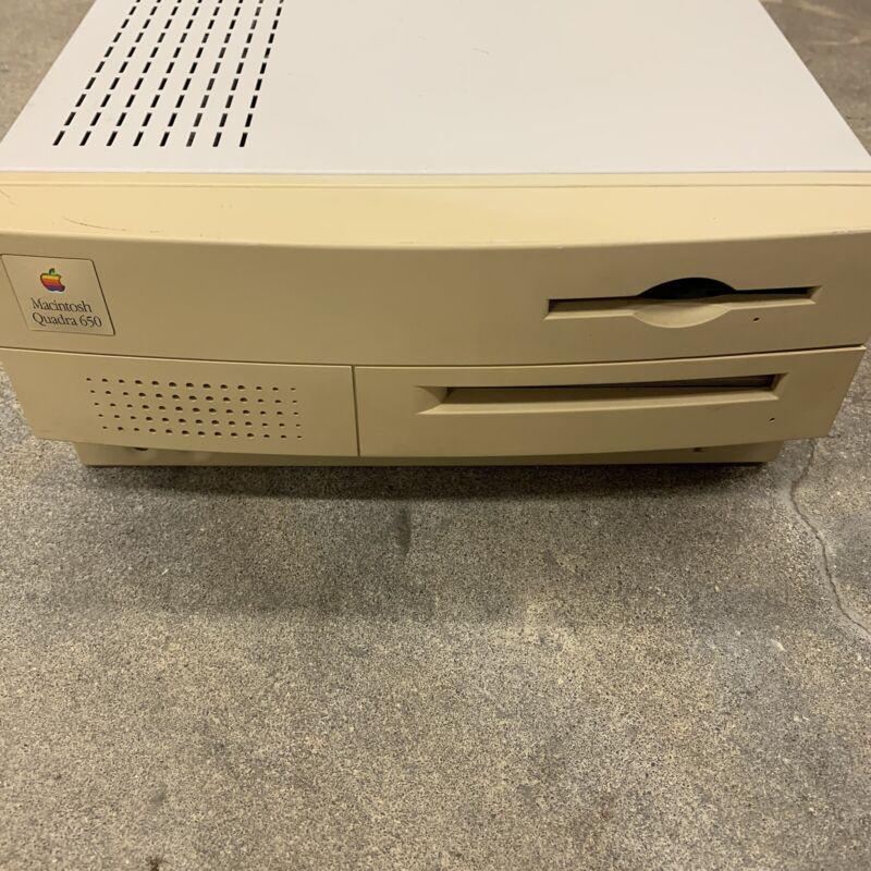 Macintosh Quadra 650 Untested For Parts Or Repair Missing Parts.
