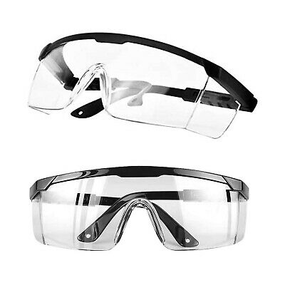 Safety Goggles Over Glasses Lab Work Eye Protective Eyewear Clear Lens Splash