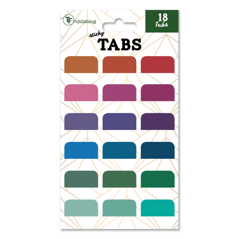 TF PUBLISHING - Colorful Adhesive Tabs - Pack of 18