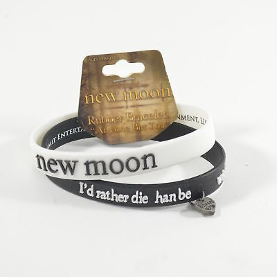 "Twilight Saga New Moon ""Anyone But You"" Rubber Bracelets"