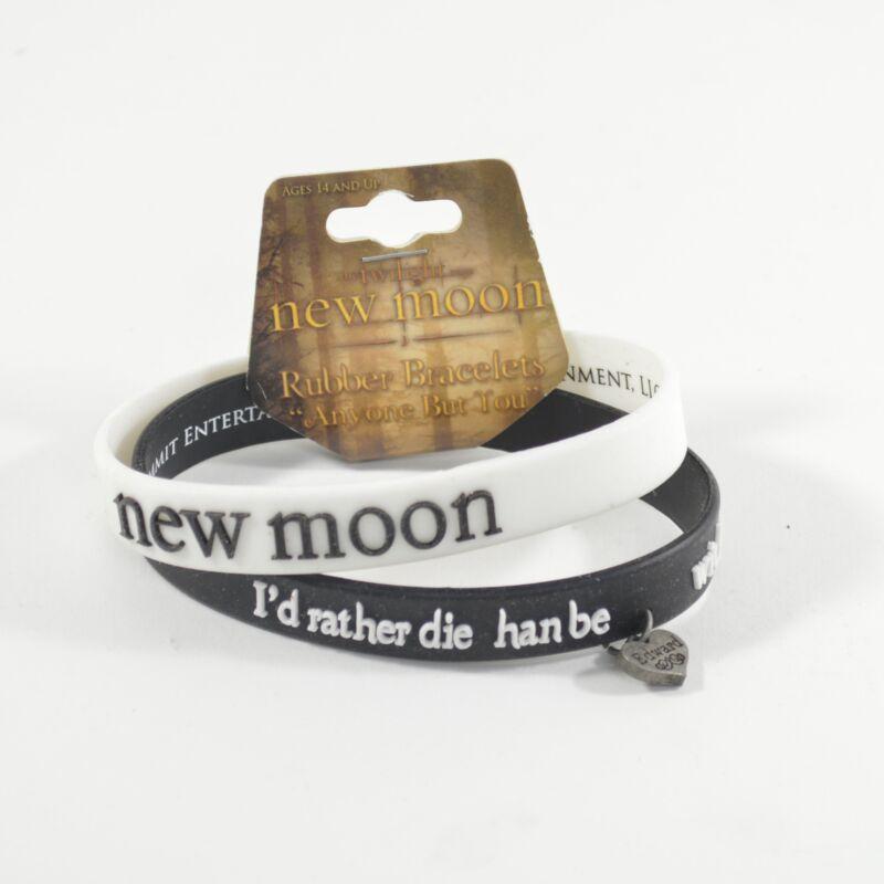 "Twilight Saga New Moon ""Anyone But You"" Rubber Bracelets"