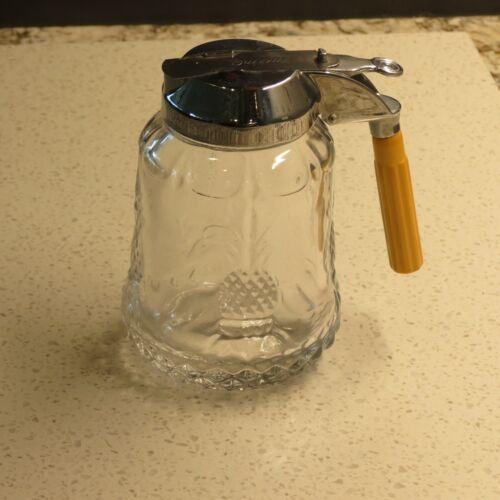 Heisey Glass Plantation Syrup Pitcher