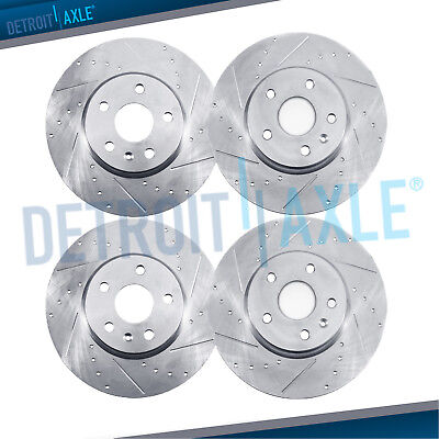 All 4 Front  Rear DRILLED SLOTTED Brake Rotors for 1998   2002 Honda Accord V6