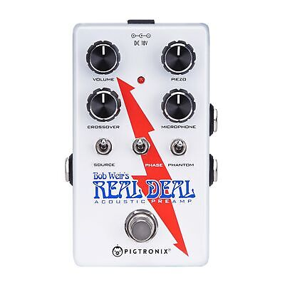 Pigtronix Bob Weirs Real Deal Acoustic Preamp Guitar Pedal w/ 18VDC Power Supply