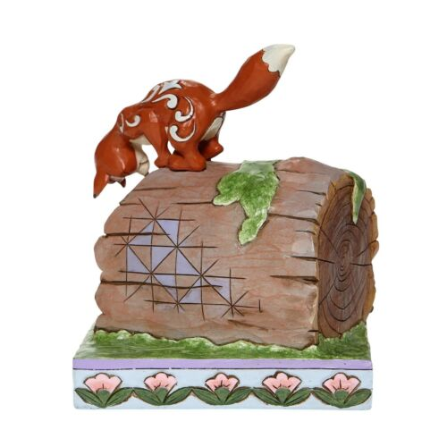 Jim Shore Disney Traditions UNLIKELY FRIENDS Fox & Hound on Log 6008077 New