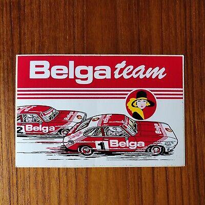Vintage sticker autocollant Ford Capri Belga Team