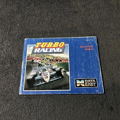 Notice Nintendo NES Turbo Racing FRA état correct